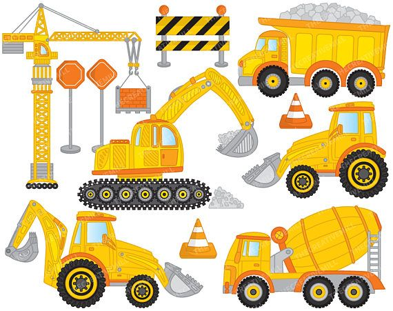 Crane truck clipart clipart free download Construction Clipart - Vector Construction Clipart, Crane Clipart ... clipart free download