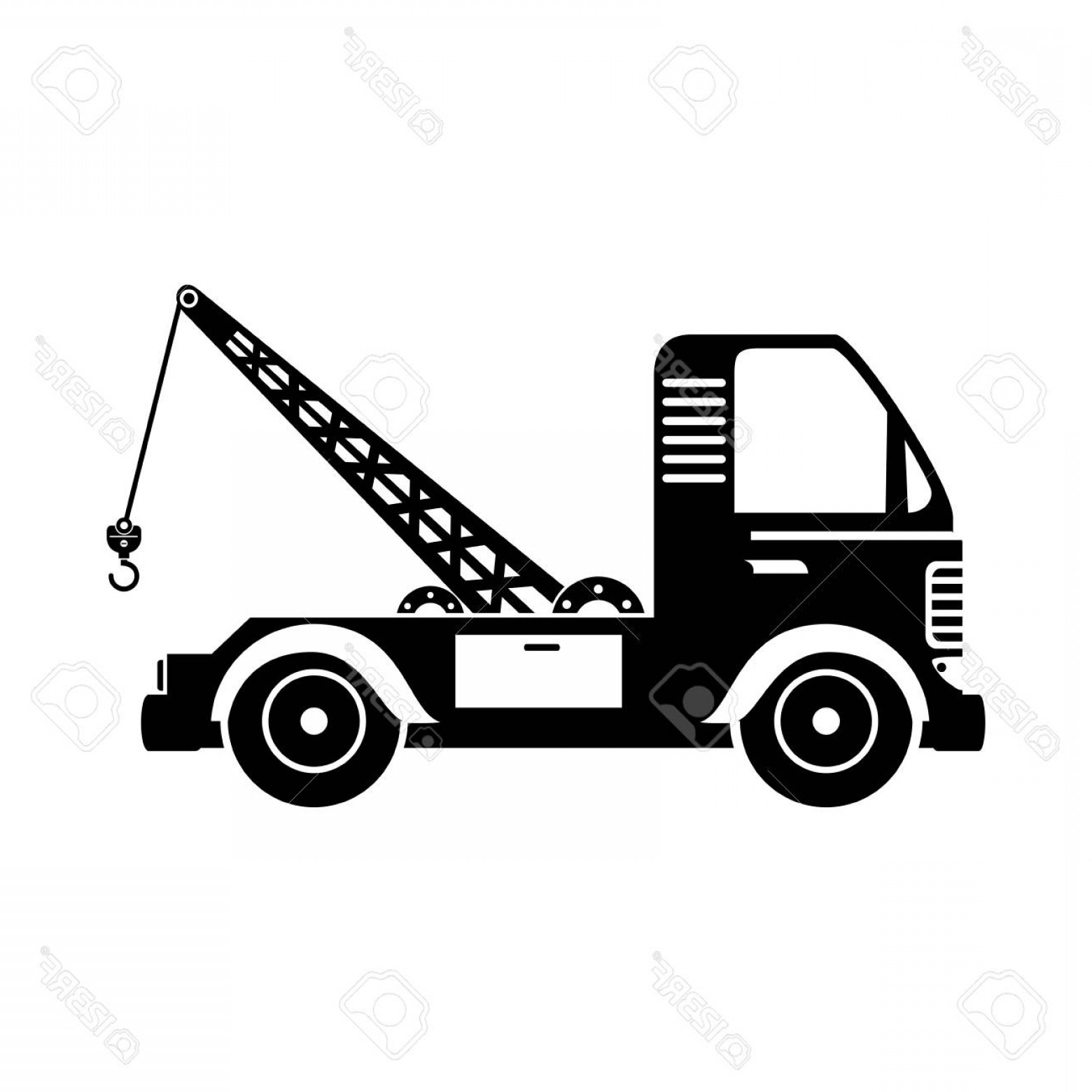 Crane clipart with scoop black and white royalty free download Crane Truck Drawing | Free download best Crane Truck Drawing on ... royalty free download
