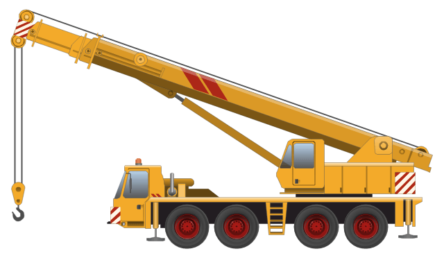 Crane truck clipart picture black and white Crane Truck Cliparts - Cliparts Zone picture black and white