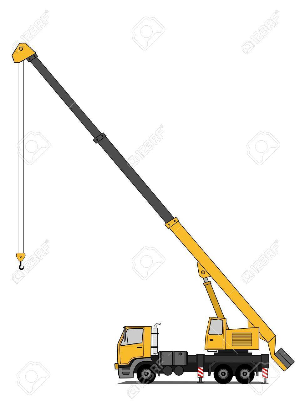 Crane truck clipart svg black and white Crane truck clipart 7 » Clipart Portal svg black and white