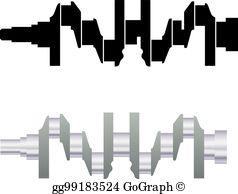 Crankshaft clipart picture free stock Crankshaft Clip Art - Royalty Free - GoGraph picture free stock