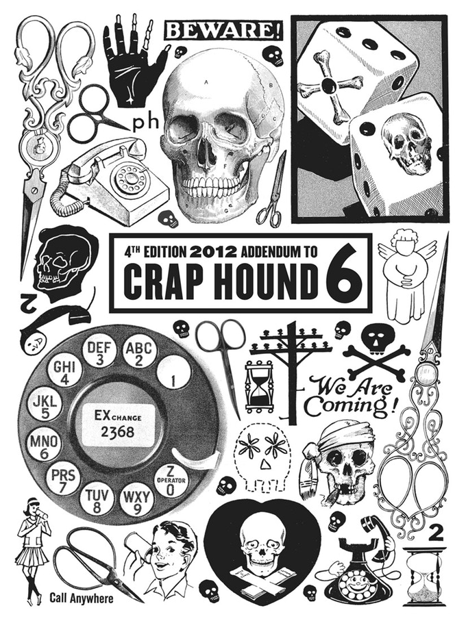 Craphound clipart picture royalty free download Crap Hound #6: Death, Telephones & Scissors! by Chloe Eudaly ... picture royalty free download