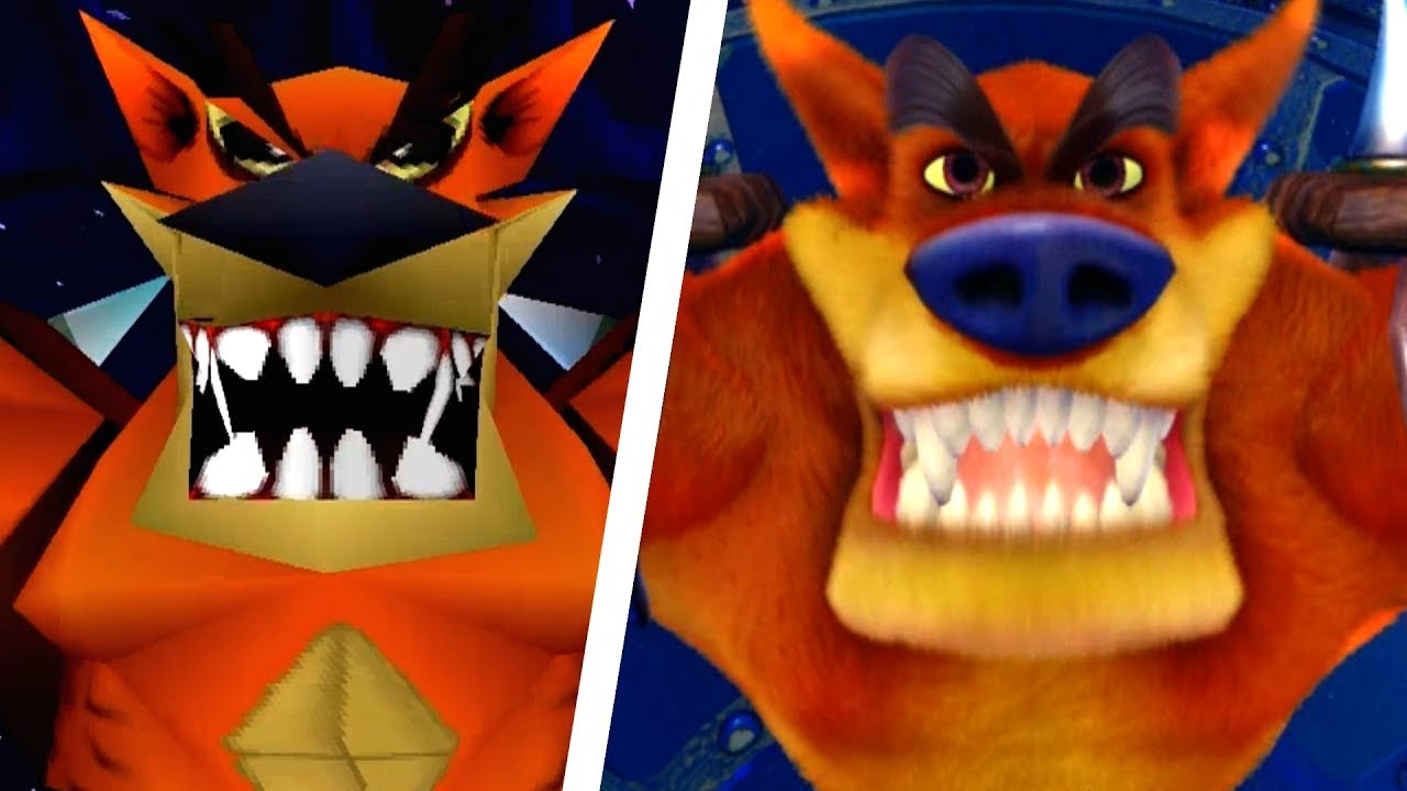 Crash bandicoot ps4 clipart clip black and white library Crash Bandicoot N. Sane Trilogy - All Bosses Comparison (PS4 vs Original) clip black and white library
