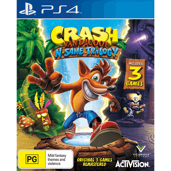 Crash bandicoot ps4 clipart picture royalty free library Crash Bandicoot: N-Sane Trilogy (preowned) picture royalty free library