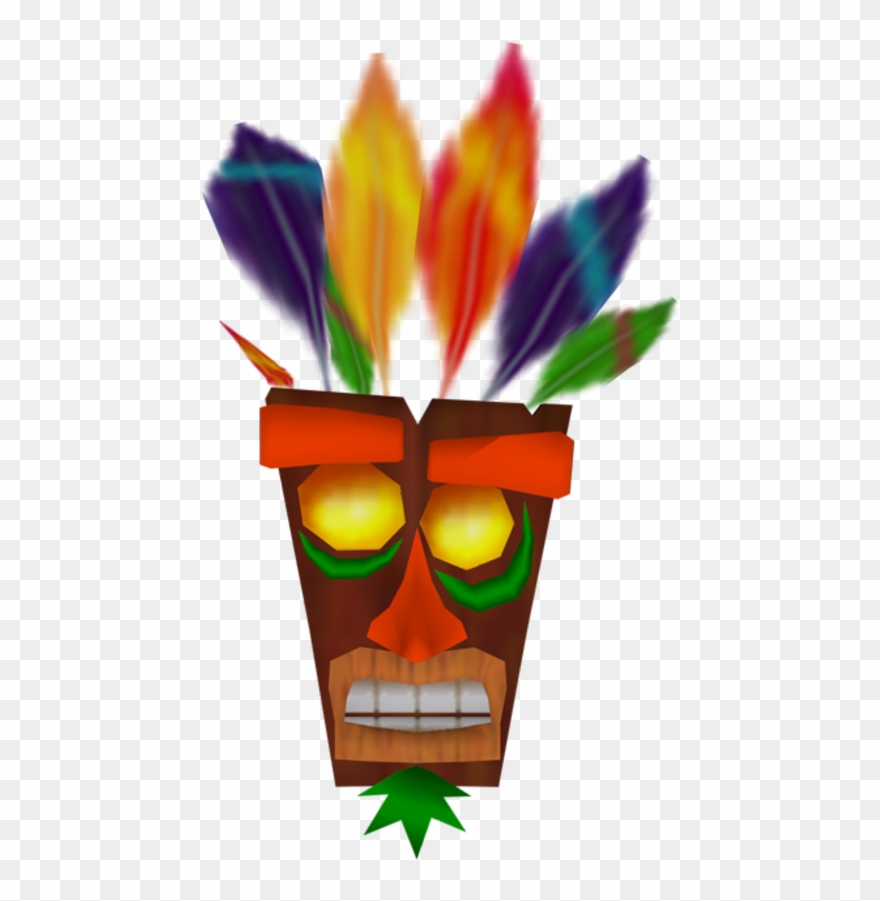 228kib, - Crash Bandicoot The Wrath Of Cortex Aku Aku Clipart ... picture royalty free