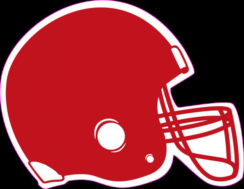 Crashing football helmets clipart