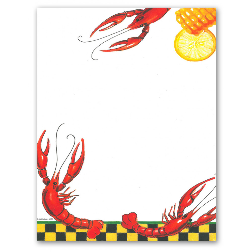 Crawfish border clipart picture free stock It\'s Crawfish Season Letter Paper picture free stock
