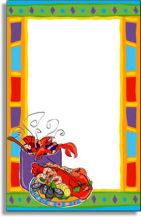Crawfish border clipart svg freeuse download Invitations CLAMBAKE - SEAFOOD Invitations Colorful Crawfish svg freeuse download