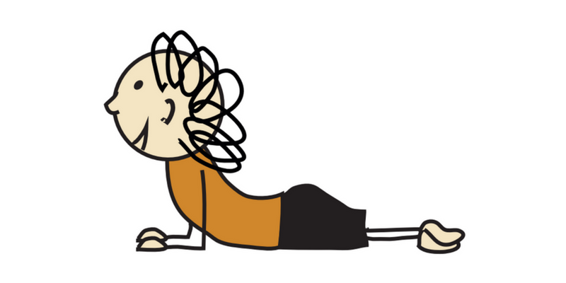 Crawl on tummy like a snake child clipart royalty free Snake pose - Children Inspired by Yoga - pose of the week royalty free
