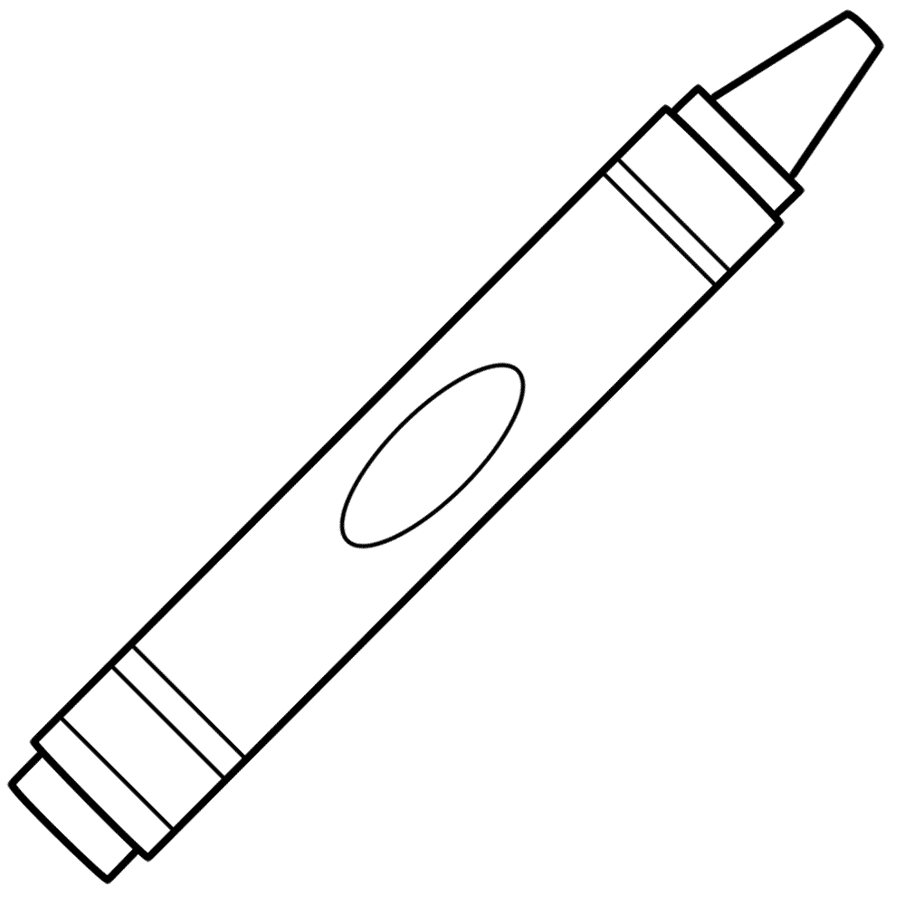 Crayon outline clipart image black and white download Free Blank Crayon Cliparts, Download Free Clip Art, Free Clip Art on ... image black and white download