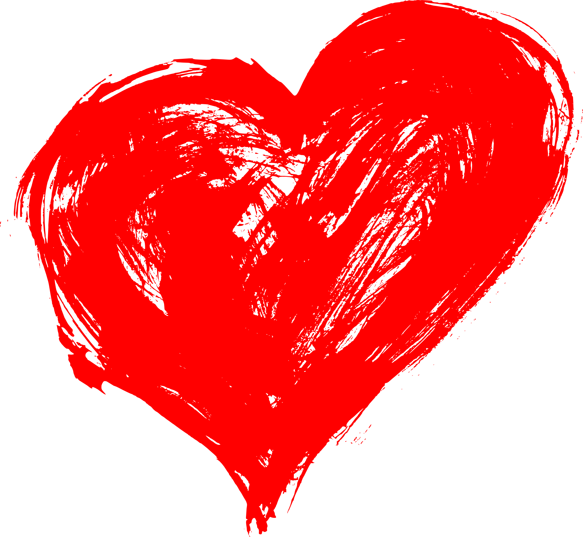 Crayon heart clipart png freeuse Hand Drawn Heart PNG Transparent | OnlyGFX.com png freeuse