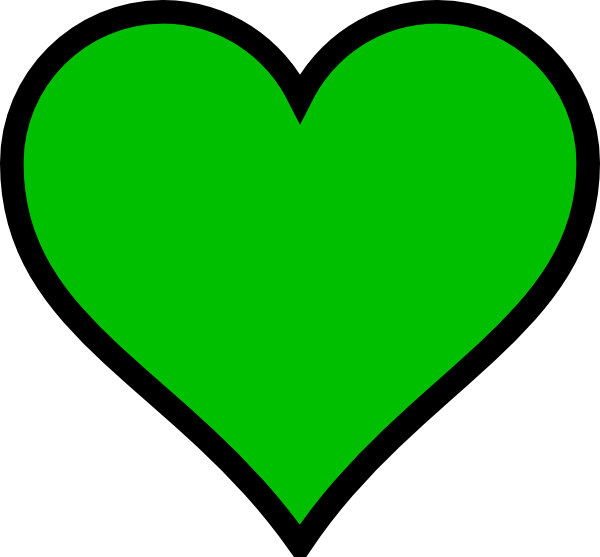 Crayon heart clipart graphic free Green Heart Clip Art at Clker.com - vector clip art online, royalty ... graphic free