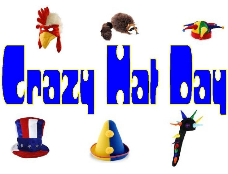 Crazy hat day clipart banner library download Wacky Hat Cartoons | Crazy Hat Day Clip Art Crazy hat day | Happy ... banner library download