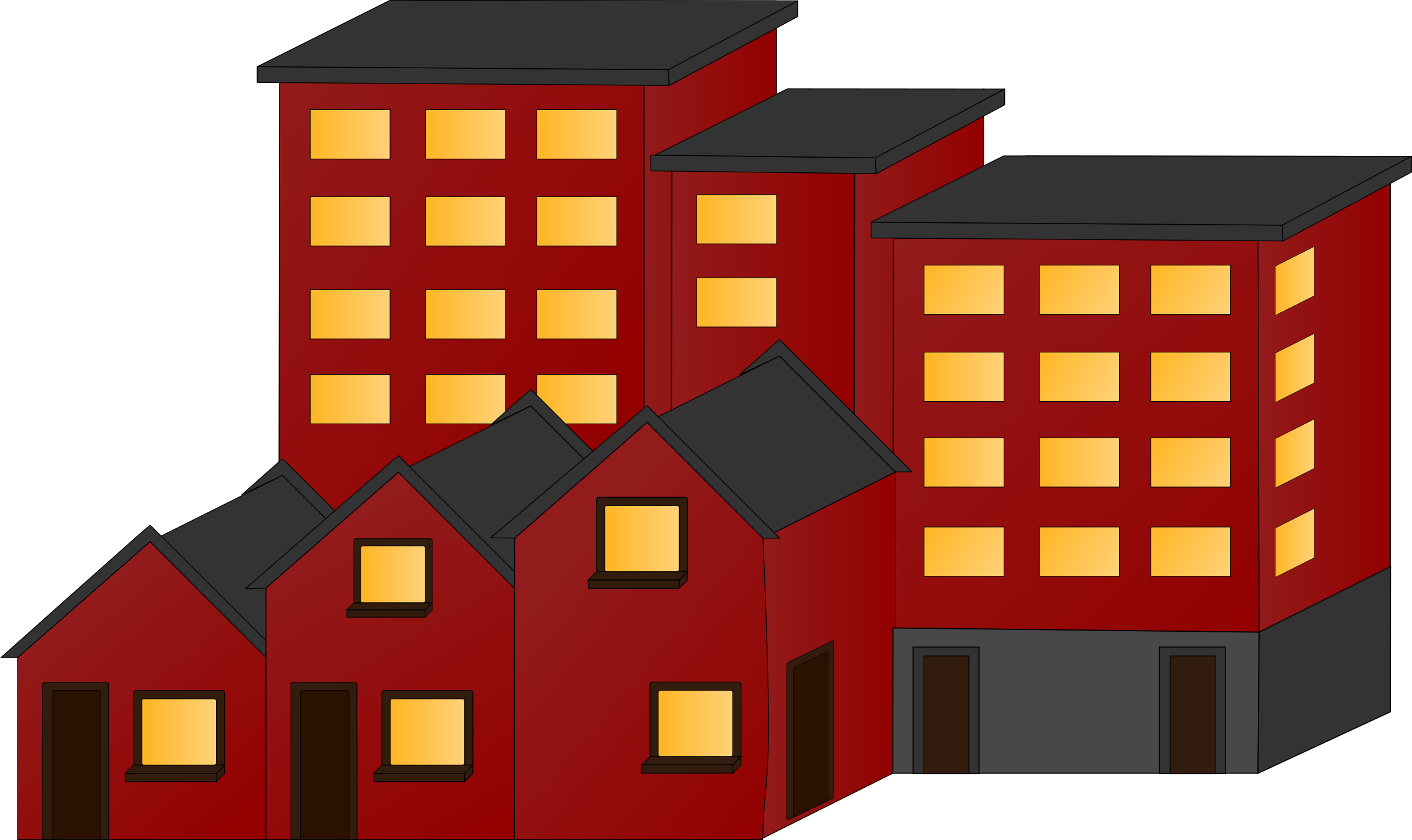 Crazy house clipart freeuse stock Appartment buildings and town houses Icons PNG - Free PNG and Icons ... freeuse stock