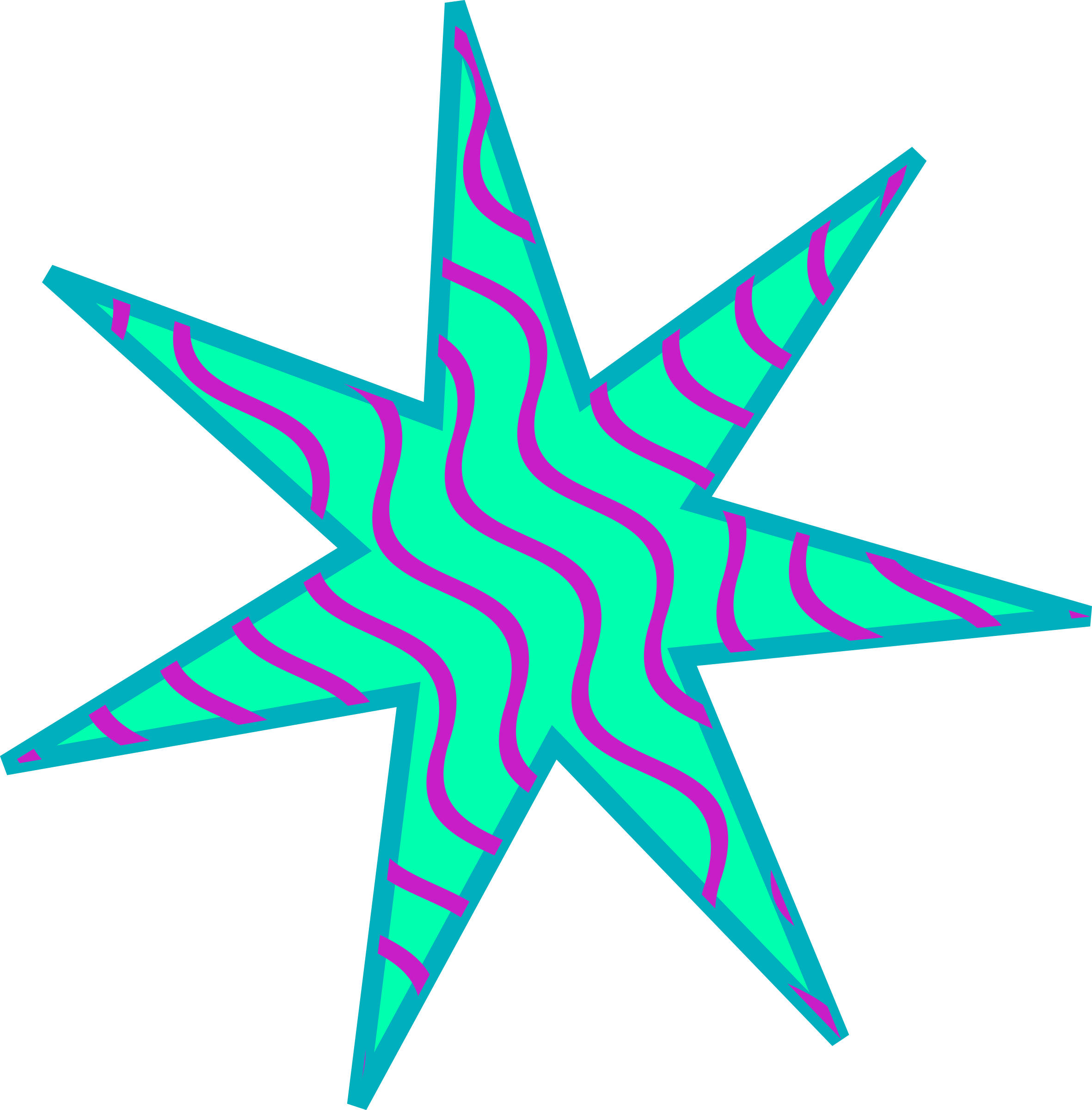 Teal star clipart clipart royalty free library Clipart - Crazy Star clipart royalty free library