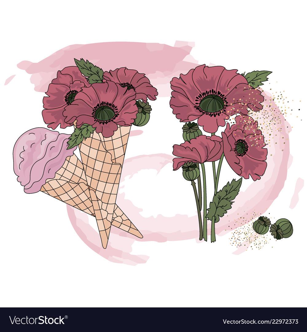 Cream color clipart clip Poppy ice cream cartoon clipart color clip