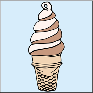 Cream color clipart transparent library Clip Art: Ice Cream Cone 2 Color I abcteach.com | abcteach transparent library