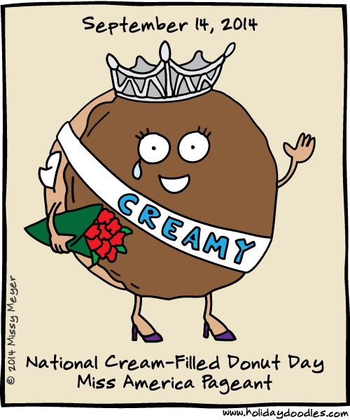 Cream filled donut clipart picture transparent stock Sept 14, 2014: National Cream-Filled Donut Day; Miss America ... picture transparent stock