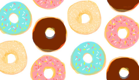 Cream filled donut clipart image free filled doughnuts | Tumblr image free