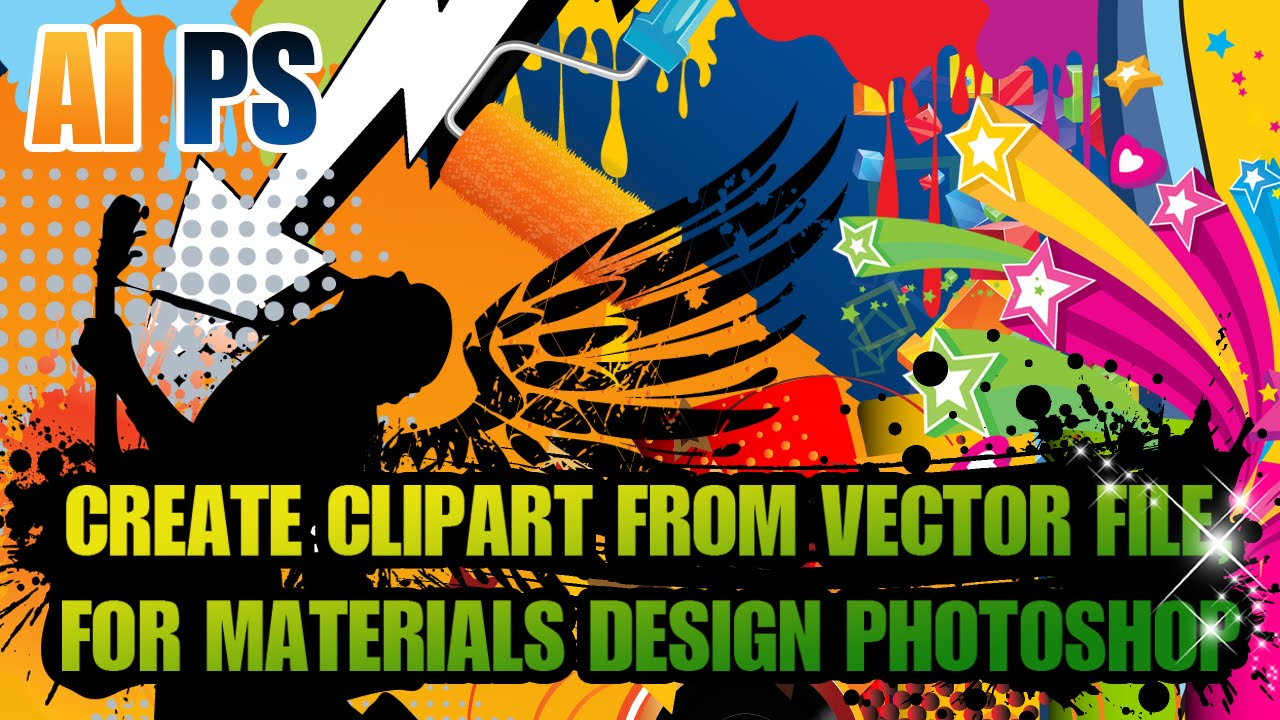 Create clipart file photoshop clip free library Adobe Illustrator Tutorial : How To Create Clipart From Vector File, For  Materials Design Photoshop clip free library