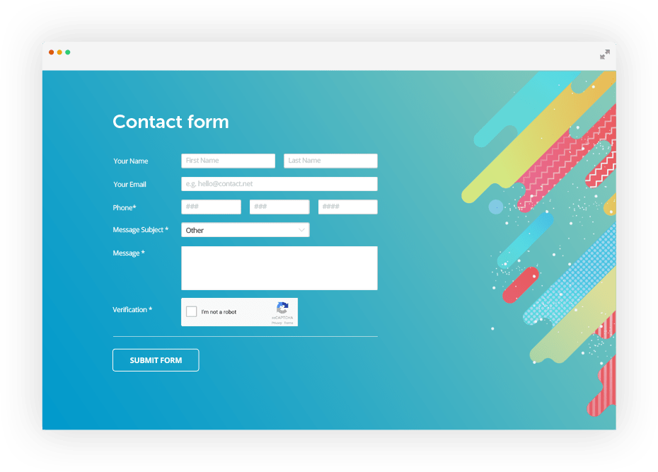 Free jQuery Contact Form Builder | 123FormBuilder (ex-123ContactForm) picture freeuse download
