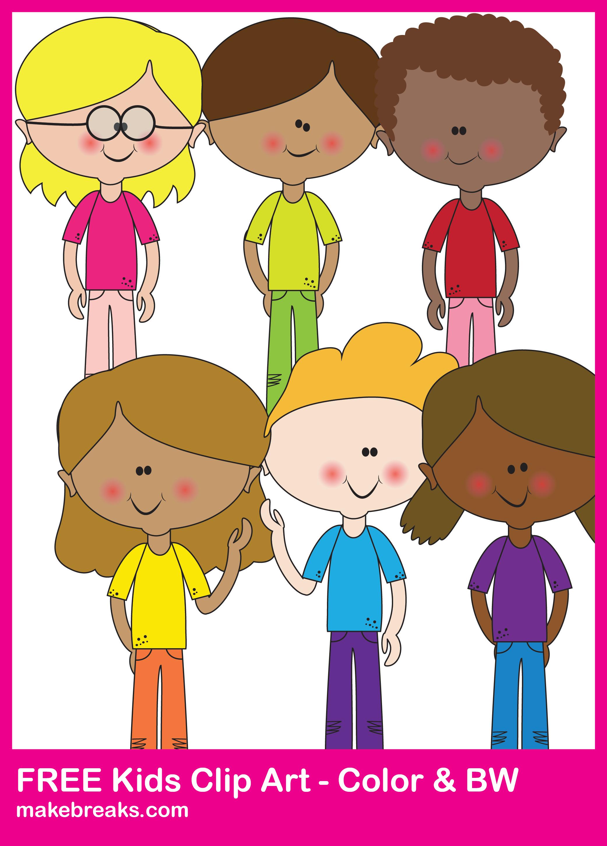 Free Cute Kids Clipart For Teachers | Classroom Printables | Digital ... clipart stock