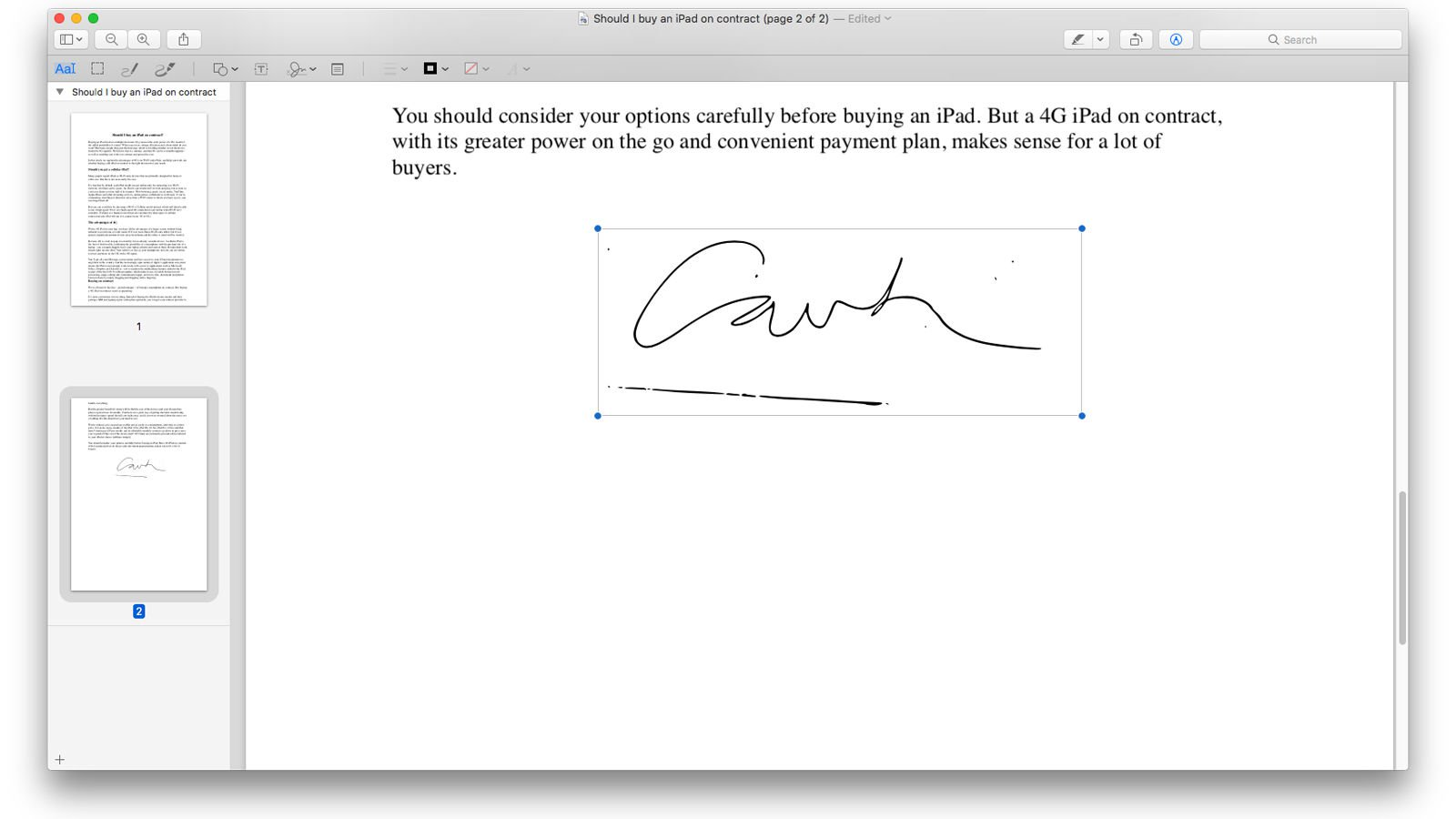 Create online signature clipart clip black and white library How To Sign A PDF On A Mac, Create A Digital Signature - Macworld UK clip black and white library