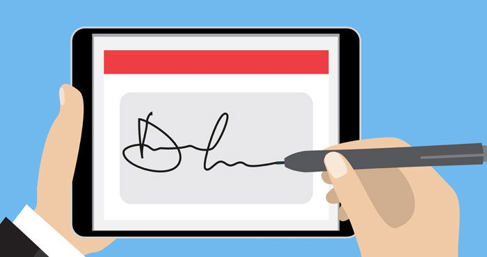 How to Sign a Document on Your Phone or Computer - Techlicious clipart free