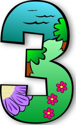 Clipartfest number clip art. Creation day 1 clipart