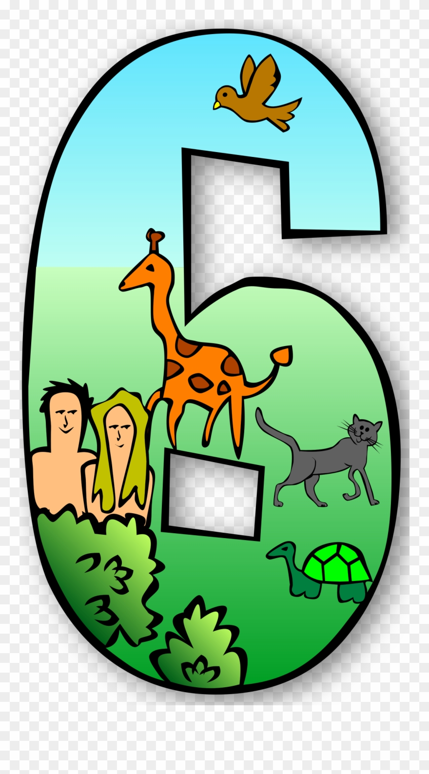 Creation story clipart svg library library Free Clipart Creation Days Numbers Gerald G - Creation Story Day 6 ... svg library library