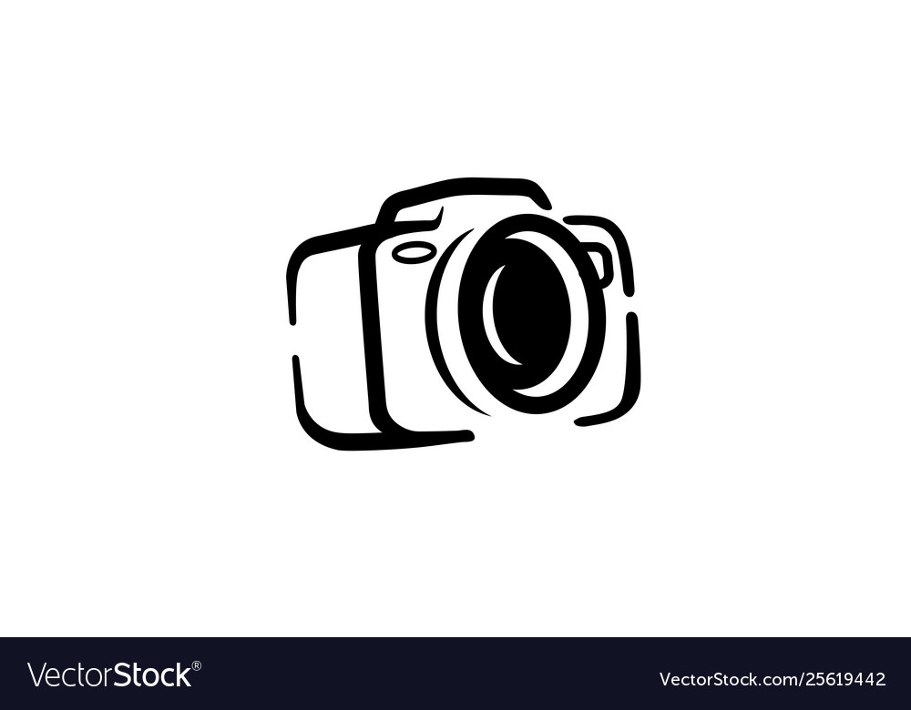 Creative clips clipart camera free black and white black and white Creative black camera logo design symbol black and white