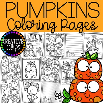 Creative clips clipart coloring pages svg freeuse download Pumpkin Coloring Pages {Made by Creative Clips Clipart} svg freeuse download