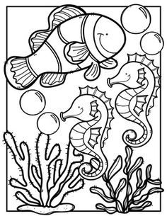 Creative clips clipart coloring pages svg transparent library FREE Ocean Animals Coloring Book {Made by Creative Clips Clipart ... svg transparent library