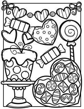 Creative clips clipart coloring pages picture black and white FREE Valentine Coloring Pages {Made by Creative Clips Clipart} | TPT ... picture black and white