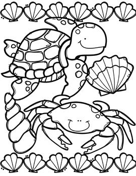 Creative clips clipart coloring pages clip transparent FREE Ocean Animals Coloring Book {Made by Creative Clips Clipart ... clip transparent