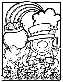 Creative clips clipart coloring pages vector freeuse stock FREE St. Patrick\'s Day Coloring Pages {Made by Creative Clips Clipart} vector freeuse stock