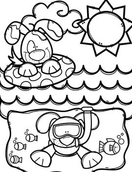 Creative clips clipart coloring pages image freeuse Summer Coloring Pages (+ writing papers) {Made by Creative Clips ... image freeuse
