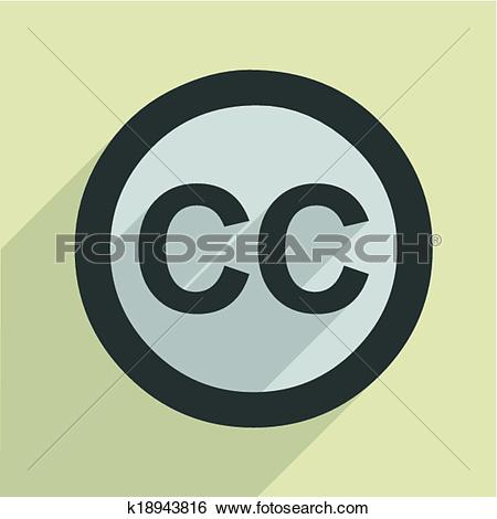 Creative commons clipart search clip black and white Clip Art of Creative Commons Icon k18943816 - Search Clipart ... clip black and white