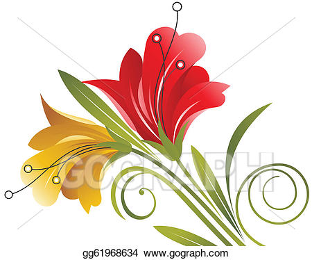 Creative flowers clipart jpg library Vector Stock - Creative flowers design. Clipart Illustration ... jpg library