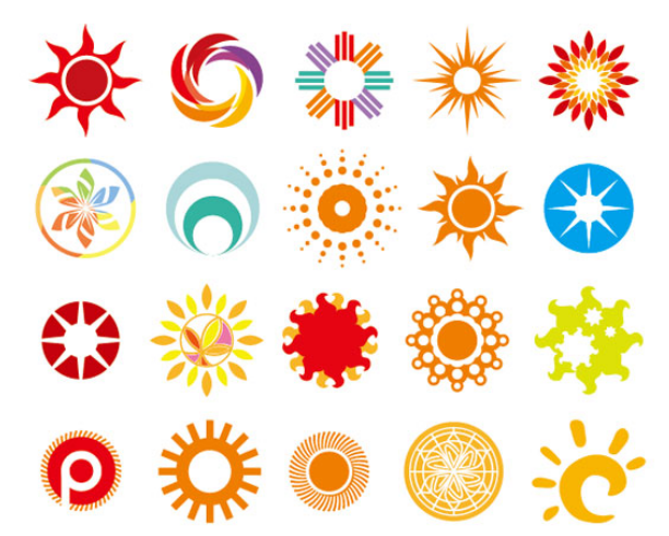 Creative logo clipart picture transparent Creative sun logos vector design material | Download PSD, EPS, AI ... picture transparent