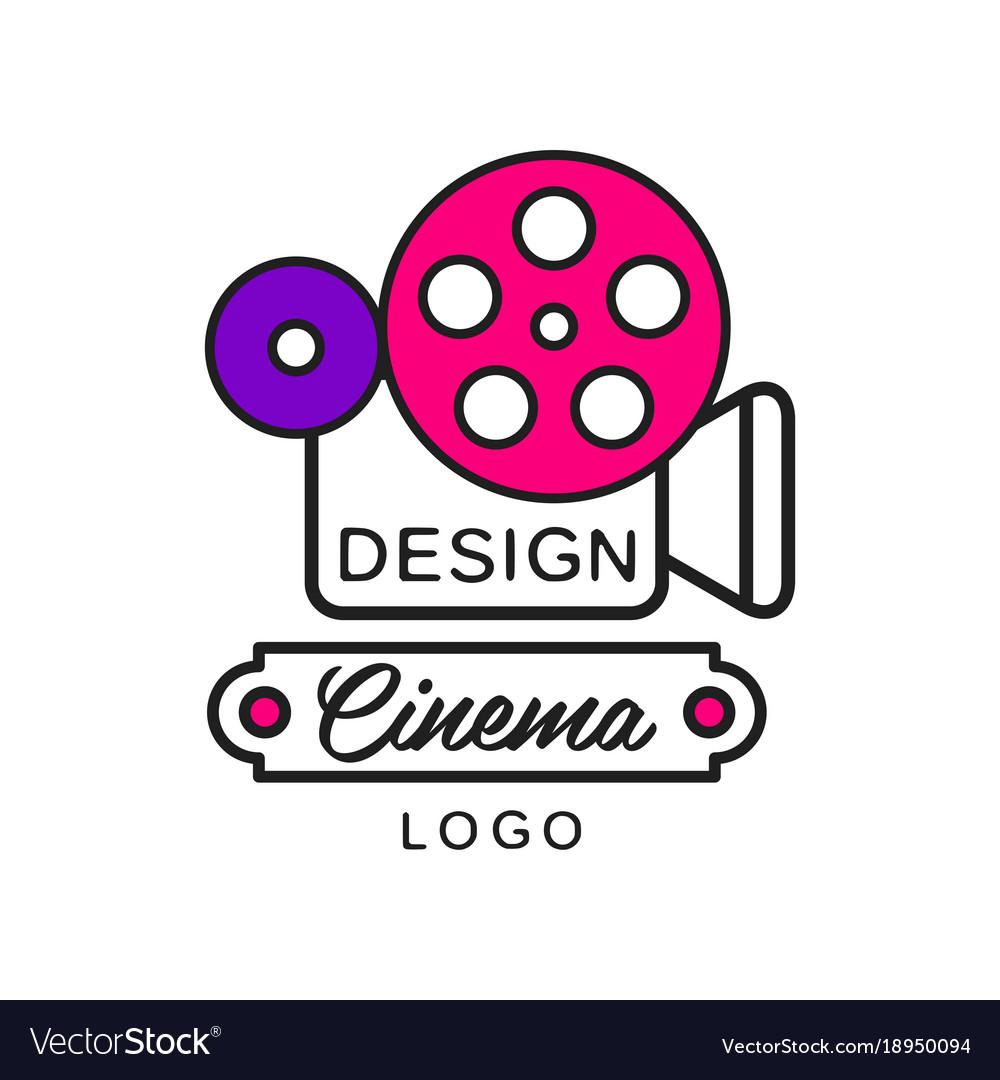 Creative logo clipart vector library Creative modern cinema or movie logo template vector library