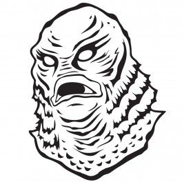 Creature from the black lagoon clipart vector library library creature from the black lagoon drawing - Google Search | T-Shirts ... vector library library