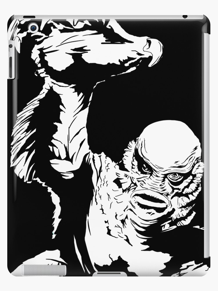 Creature from the black lagoon clipart svg black and white \'Creature from the Black Lagoon! Pop art insired\' iPad Case/Skin by  GannucciArt svg black and white