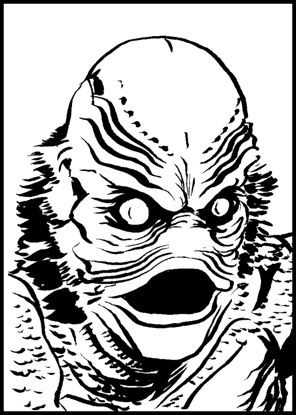 Creature from the black lagoon clipart png black and white stock 847. Creature from the Black Lagoon – Shonborn\'s Art Blog png black and white stock