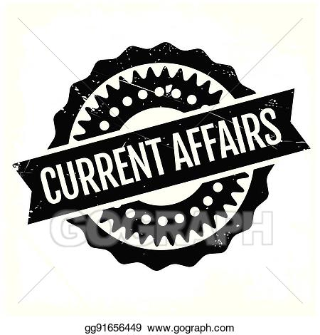 Creent clipart clipart black and white stock Vector Art - Current affairs rubber stamp. EPS clipart gg91656449 ... clipart black and white stock