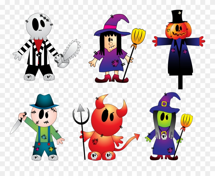 Creepy character cliparts graphic library download Halloween Creepy Collection Png Clipart - Halloween Sticker ... graphic library download