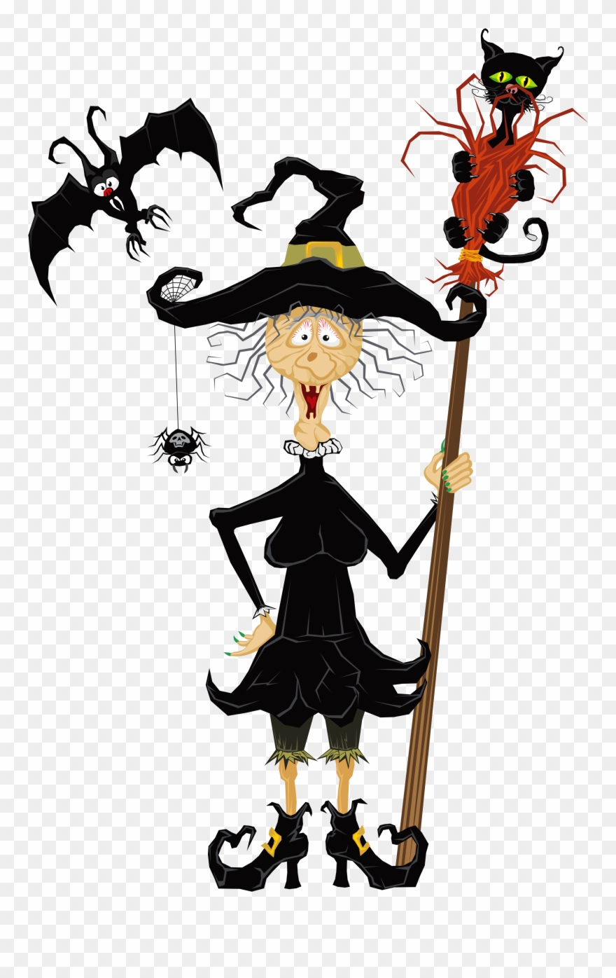Creepy character cliparts clip royalty free stock Halloween Creepy Witch Clipart - Witch Halloween Clip Art - Png ... clip royalty free stock