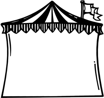 Circus: circus tent clipart | Class Themes | Circus theme classroom ... picture black and white