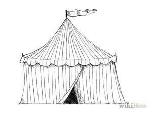 Draw a Circus Tent | Art | Tent drawing, Circus art, Drawings vector library download