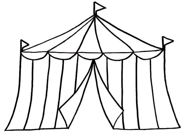 Circus Tent Clipart Black And White | Clipart library - Free Clipart ... svg library stock